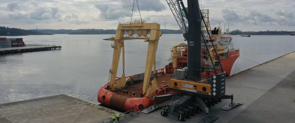 Havnekranen – en suksessfaktor for Karmsund Havn