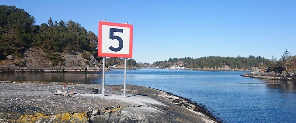 Fartsgrenser på sjøen